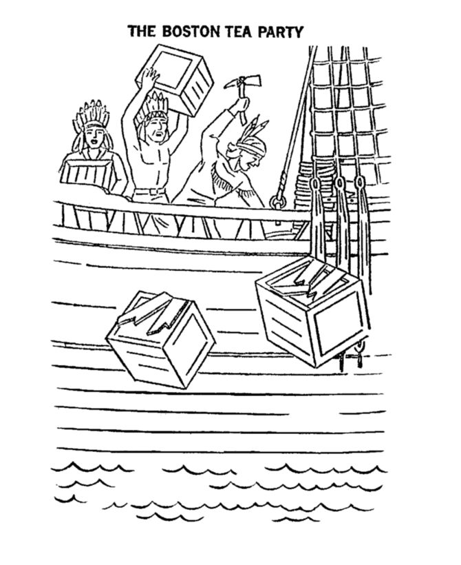 boston tea party coloring page coloring home. Black Bedroom Furniture Sets. Home Design Ideas