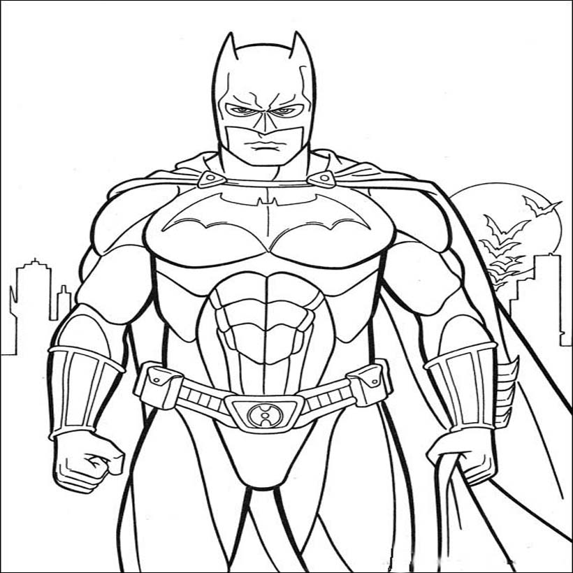 Batman Beyond Coloring Page