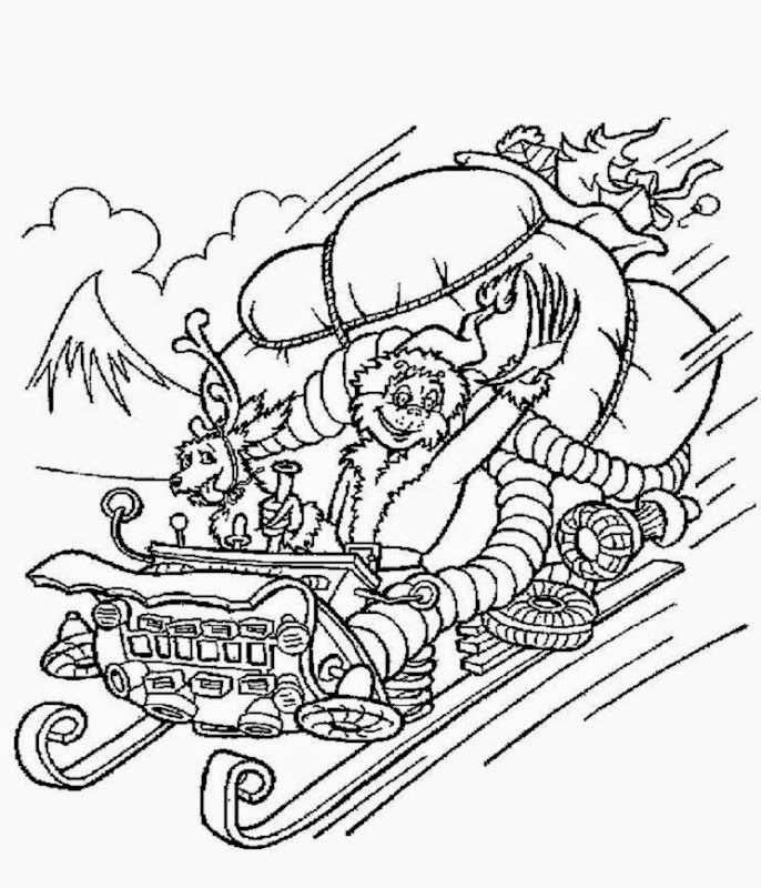 how the grinch stole christmas coloring page coloring home