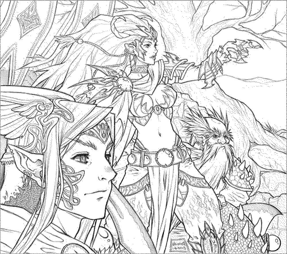 Fantasy Coloring Pages For Adults To Download And Print For ...
