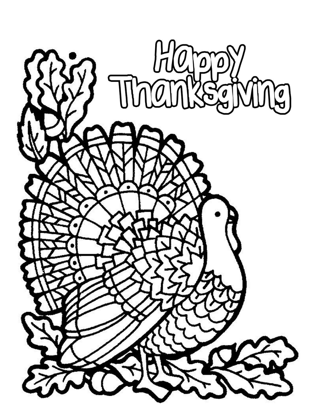 Free Printable Toddler Thanksgiving Coloring Pages