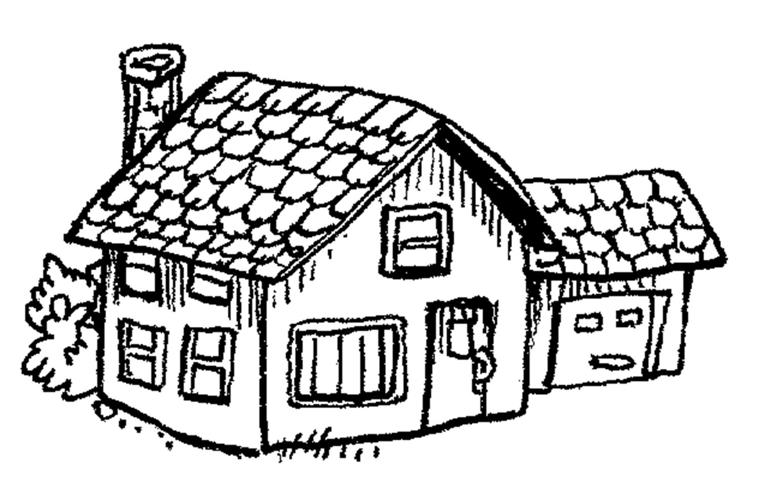 Childrens coloring house - Coloring Pages House Kids Activities