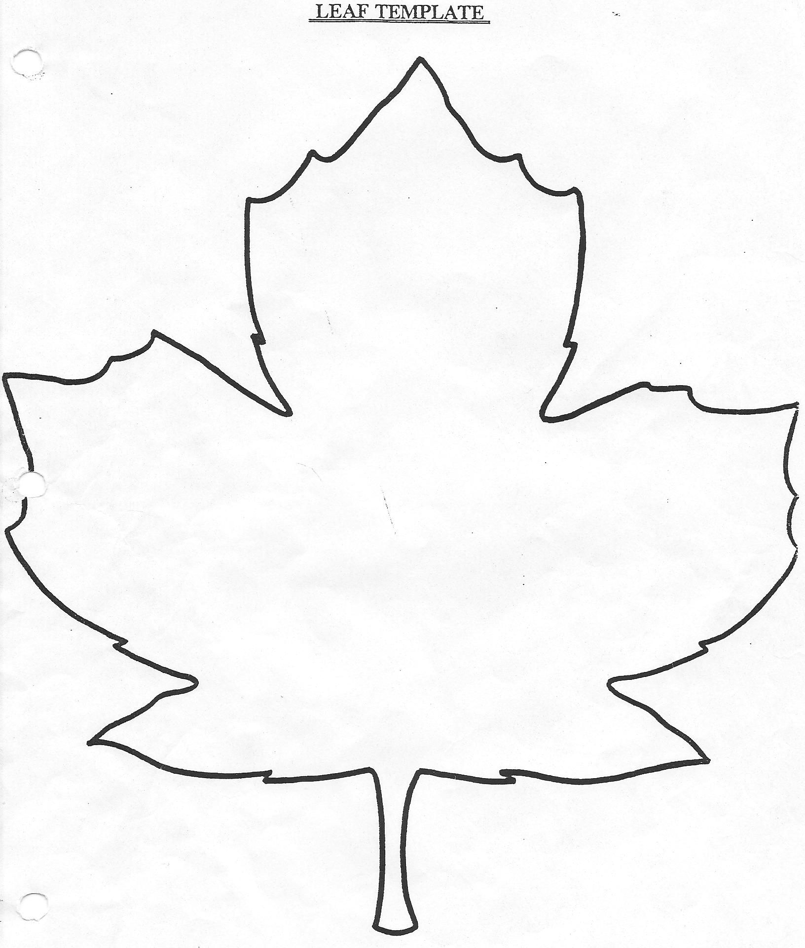 Best Photos of Large Leaf Template - Fall Leaves Template Coloring ...