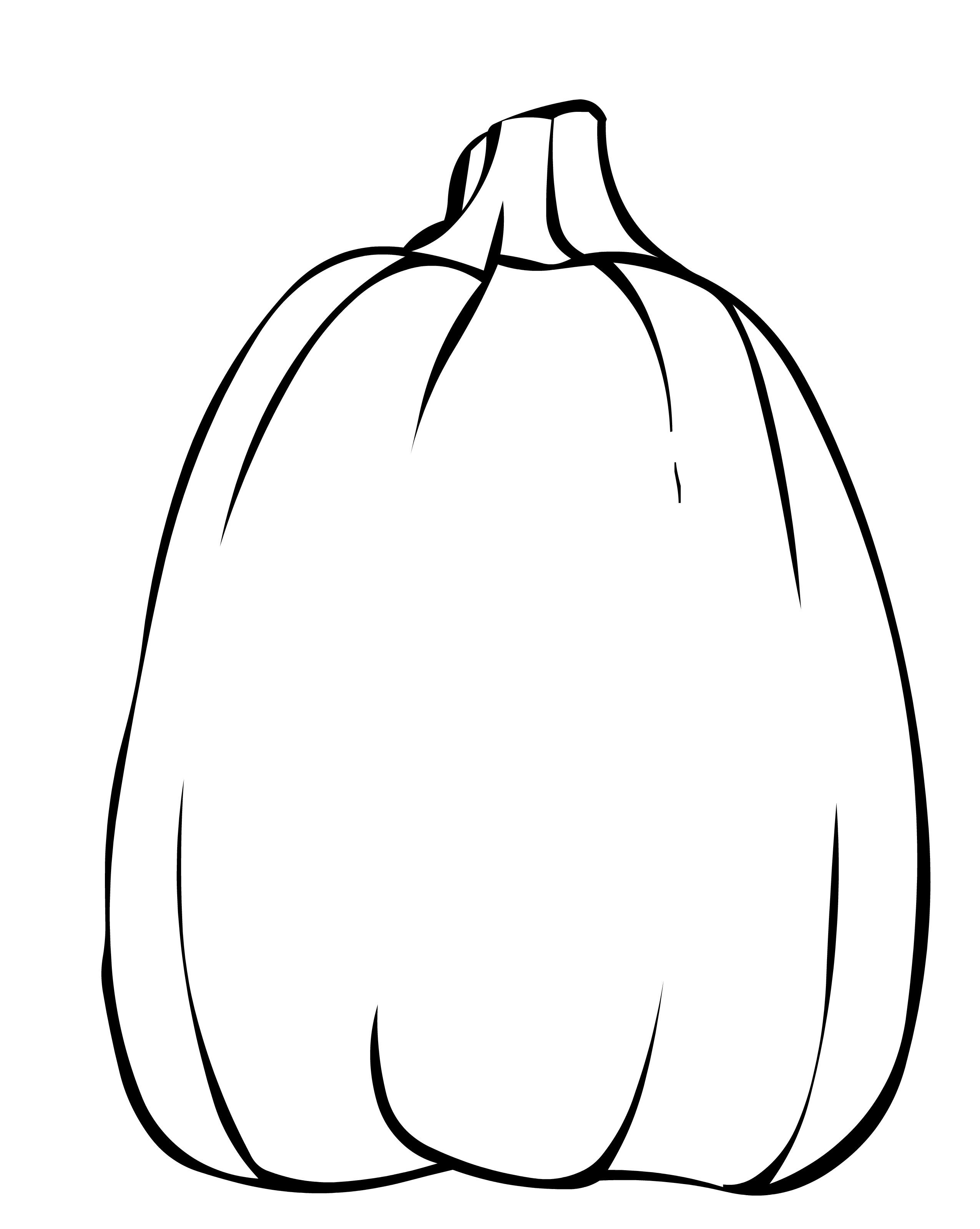 Pumpkin Outline Printable Coloring