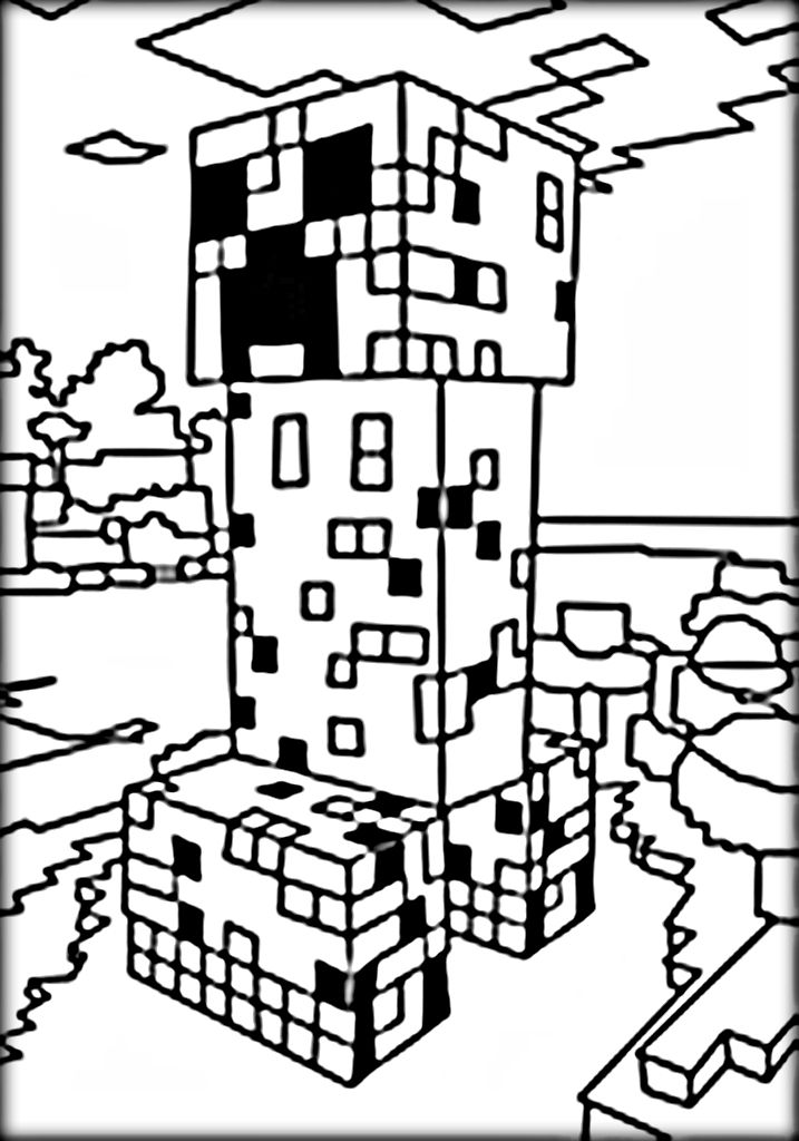 Minecraft Steve Coloring Pages
