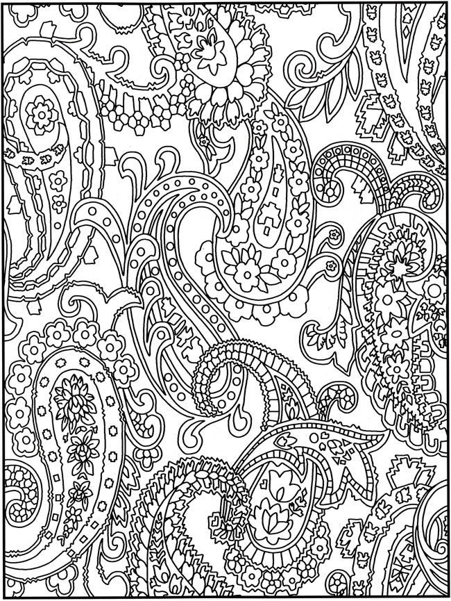 Adult Paisley Coloring Book Pages, Coloring Page 1 2 3 4 - Printer ...