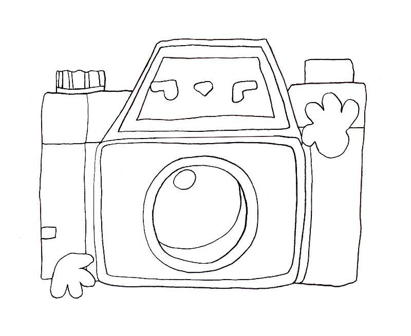 camera coloring pages - photo#38