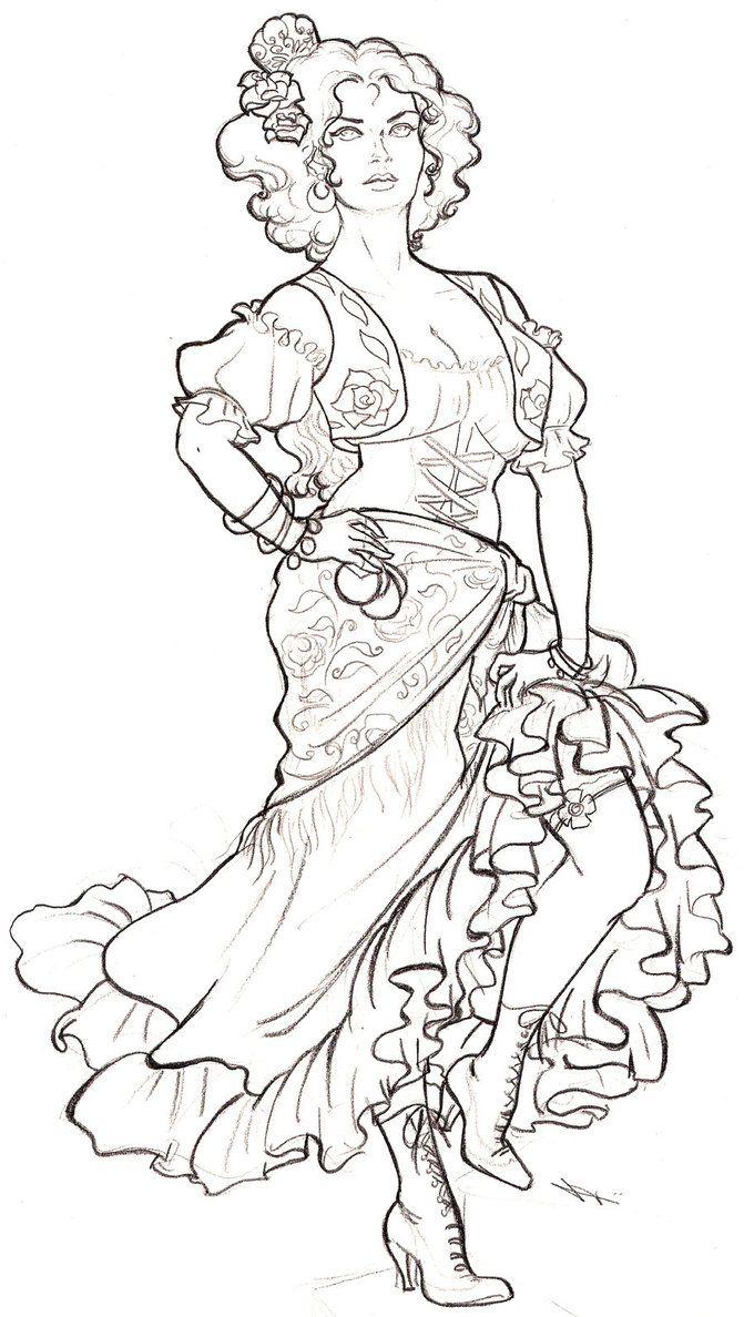 flamenco dancer flamenco dancer colouring pages to print this