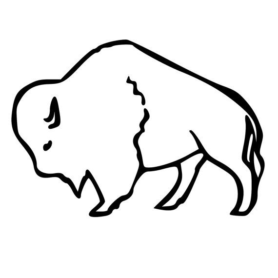 Buffalo outline die cut decal car window by beemountaingraphics