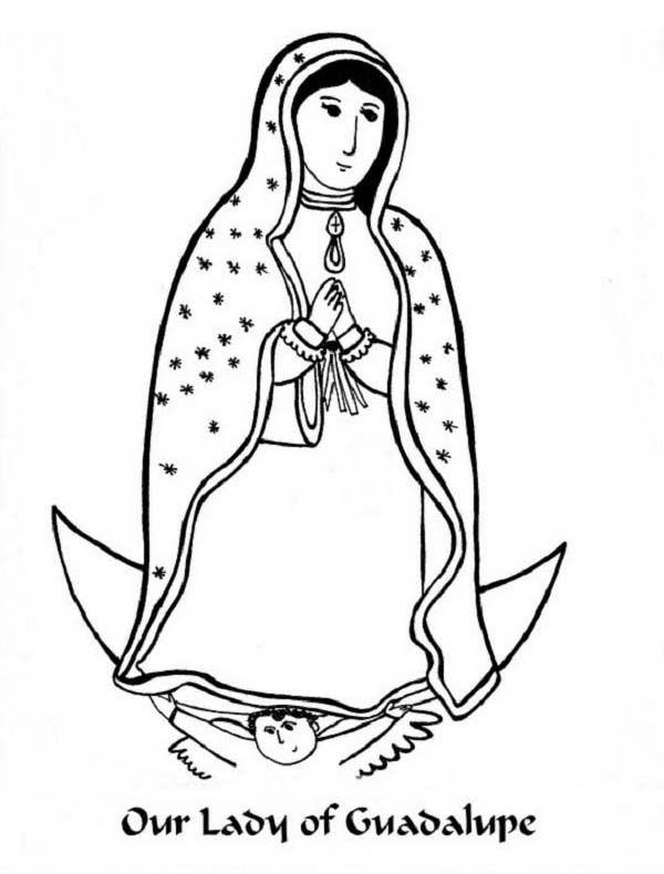 our lady of guadalupe coloring page - virgen de guadalupe coloring pages coloring home