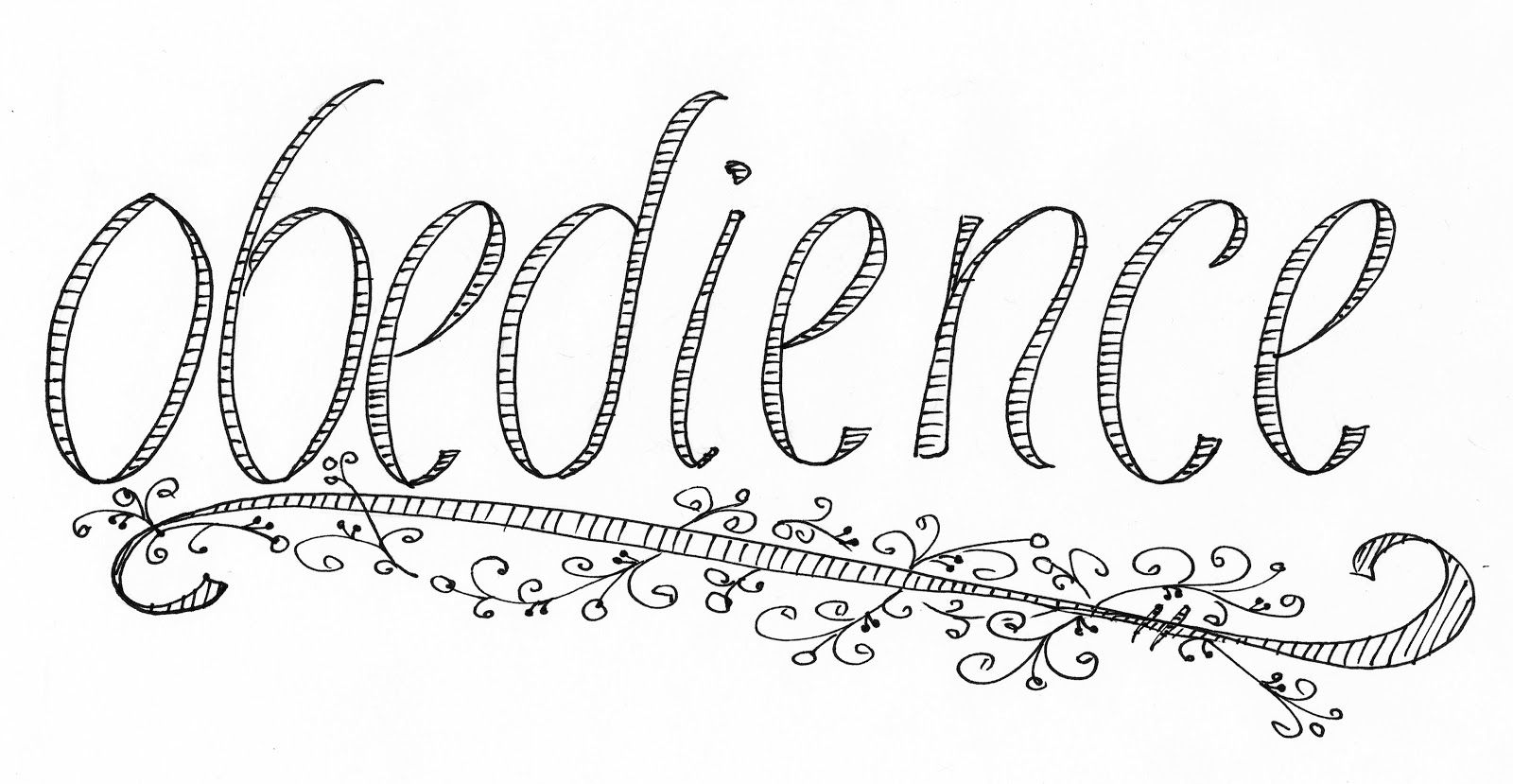 obedient coloring pages - photo#19