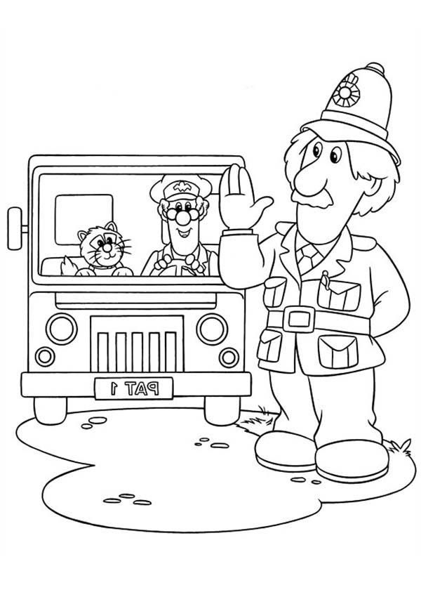 Arthur Shelby Say Hi To Postman Pat Coloring Pages Bulk Color