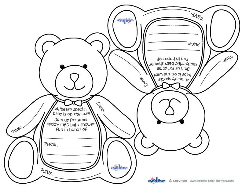 Free Printable Baby Shower Coloring