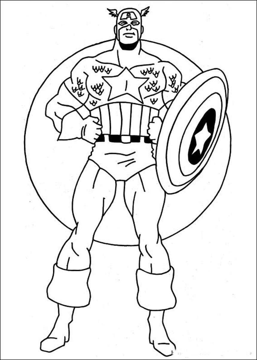 printable coloring pages of captain america : 9 Pics Of Captain America Coloring Avengers Coloring Pages