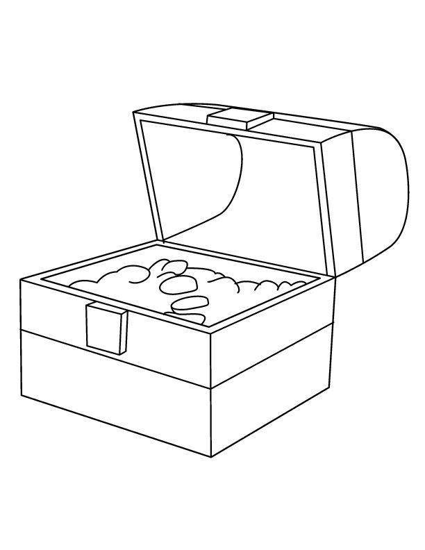Free coloring pages of treasure chest coloring home for Treasure chest coloring pages printable