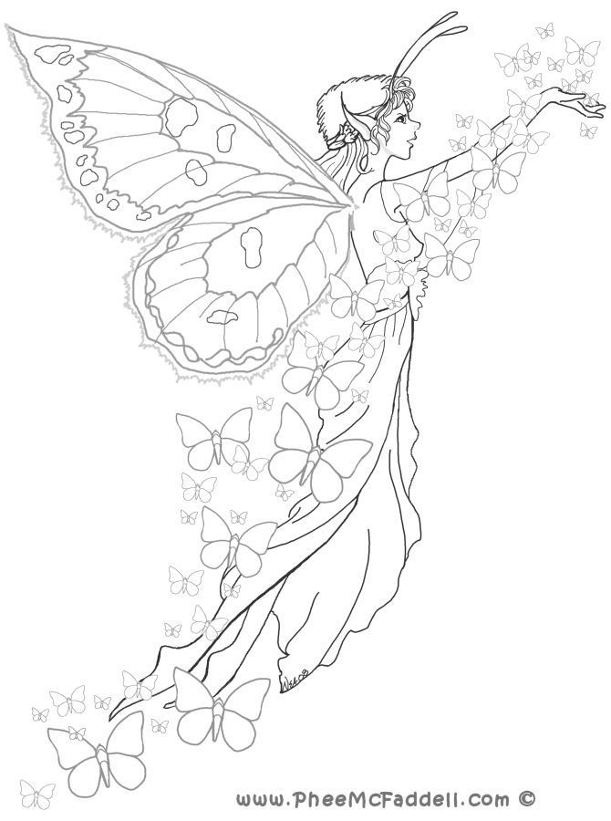 Beautiful Fairy Coloring Pages - Coloring Home