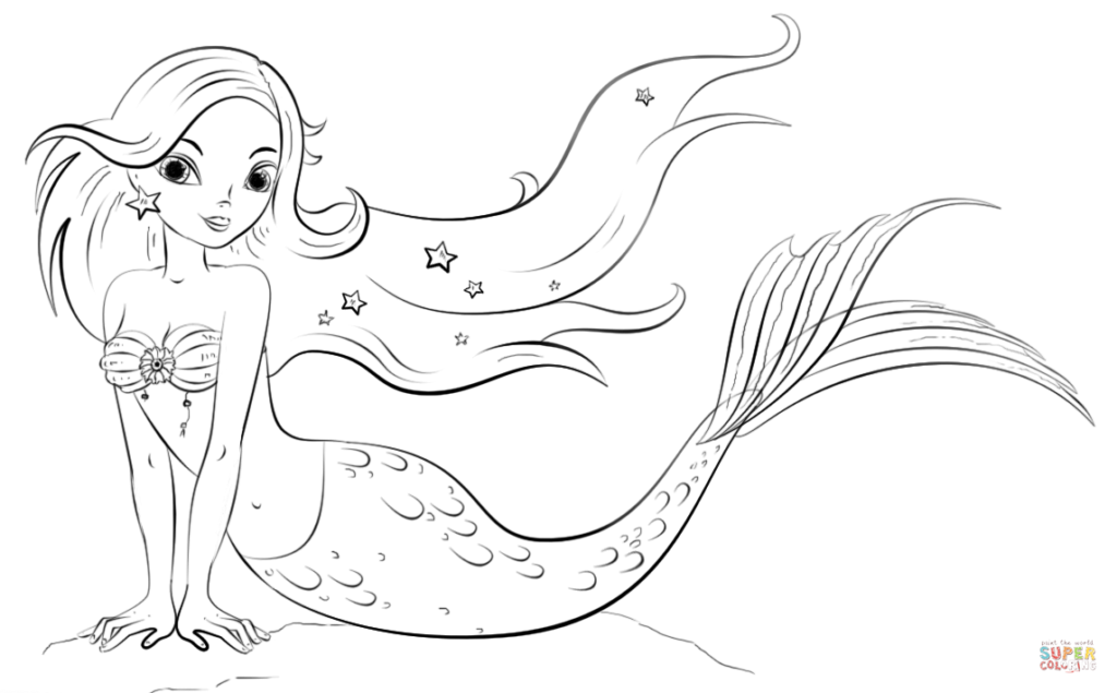Mako Mermaid Coloring Pages - Coloring Home