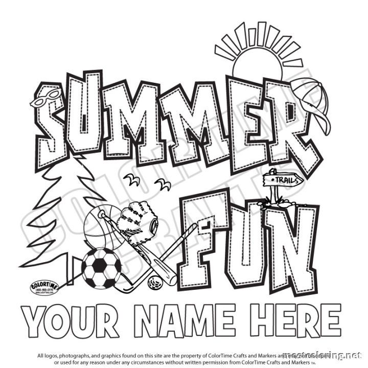 Free Coloring Pages Summer Camp
