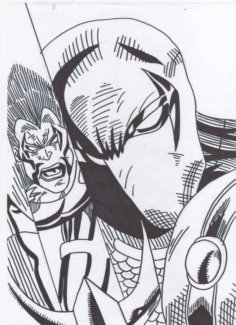 Deadpool Vs Deathstroke Coloring Pages For Pinterest