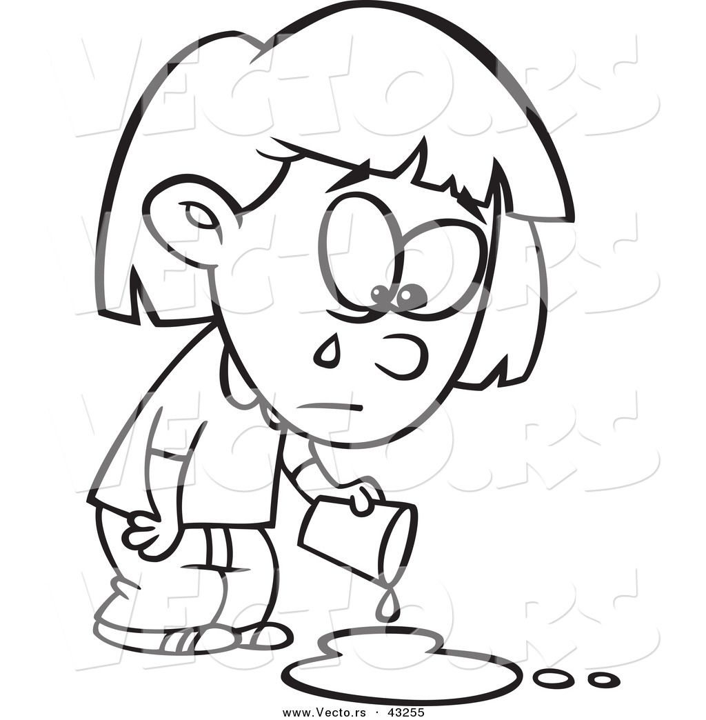 Sad Girl Coloring Page Coloring Coloring Pages