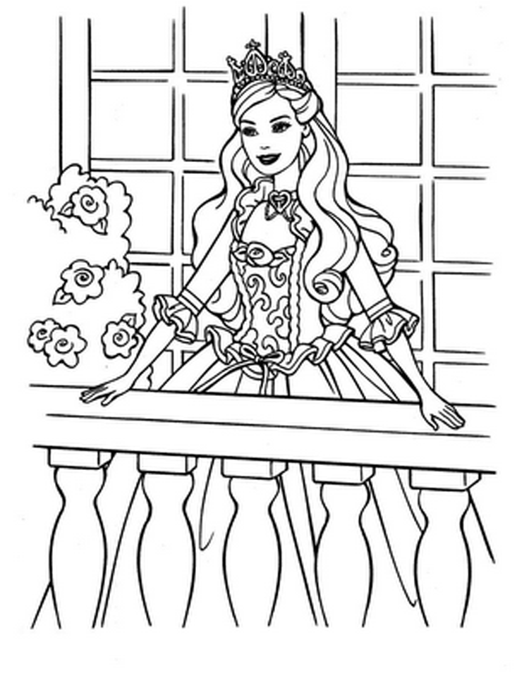 Barbie Online - Coloring Pages for Kids and for Adults