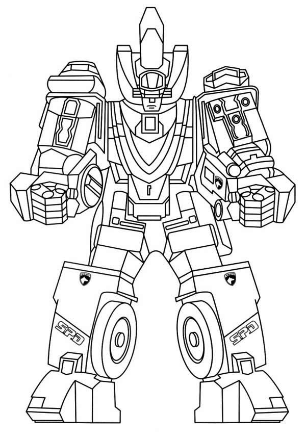 power ranger robot coloring pages - photo#1