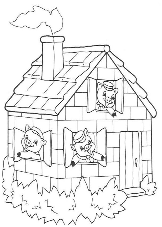 Best Photos Of 3 Little Pigs Coloring Pages