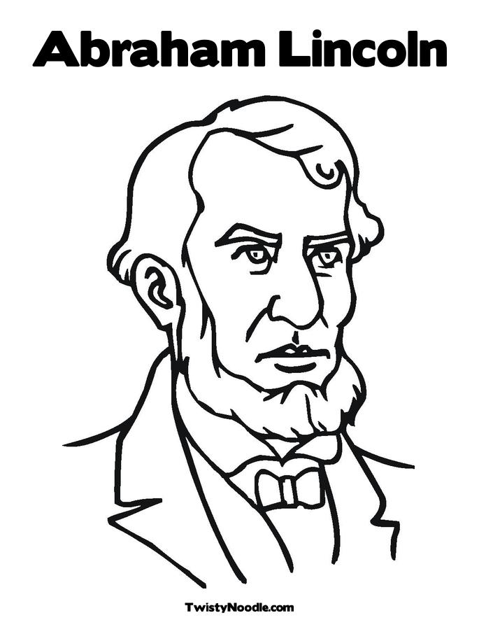 Abraham Lincoln Coloring Pages - Coloring Home