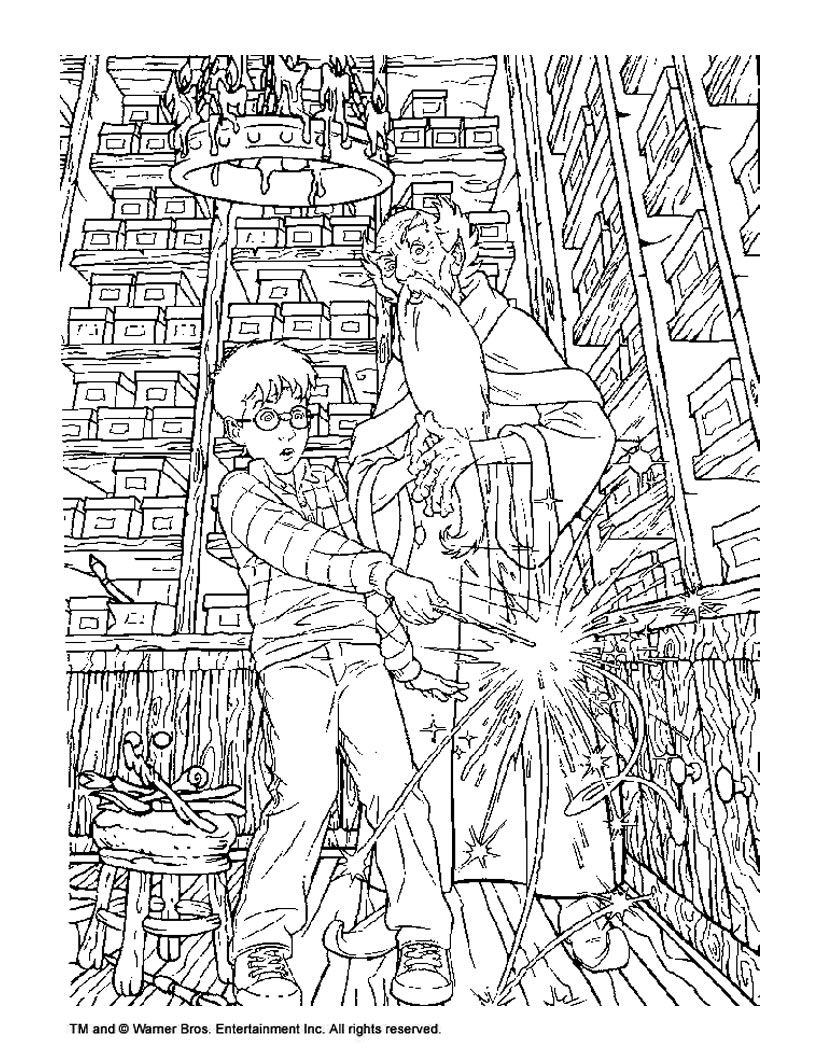 This is a photo of Clean Coloring Pages Harry Potter