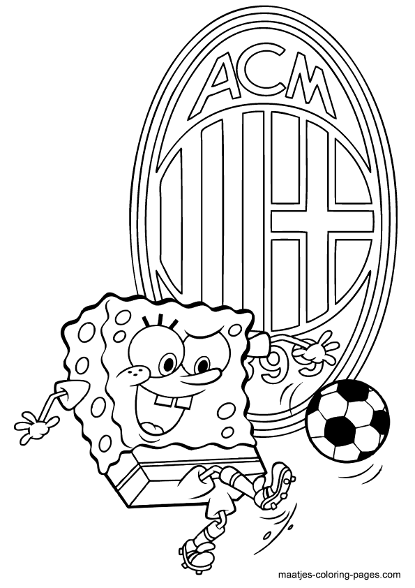 AC Milan Spongebob coloring pages