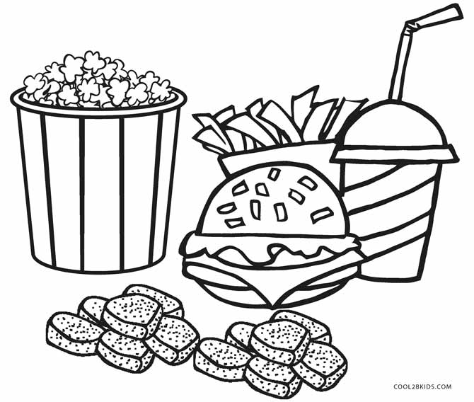 Free Printable Food Coloring Pages For Kids - Coloring Home