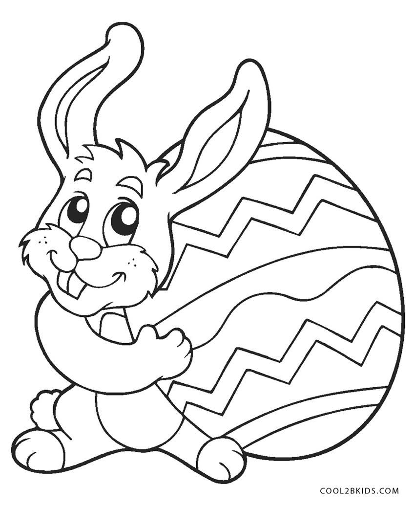 Free Printable Easter Bunny Coloring Pages For Kids Rabbit Color ...