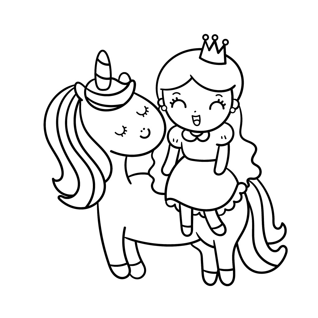 Cute Unicorns Coloring Pages - Coloring Home