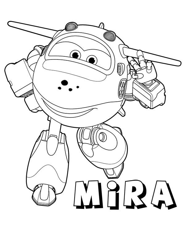 Mira plane coloring pages to download or print for free