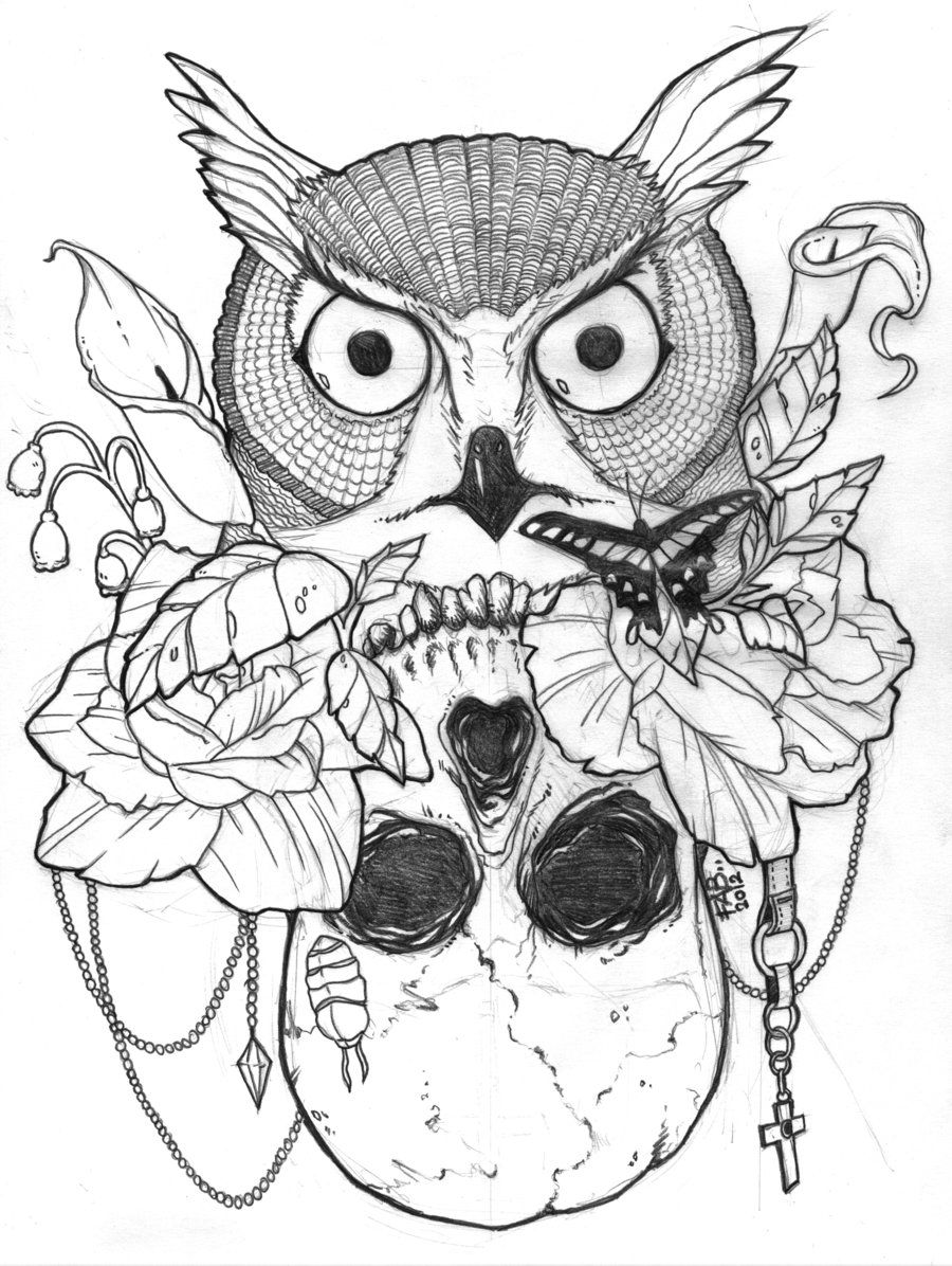 Sugar Skull Owl Coloring Pages - Coloring Home