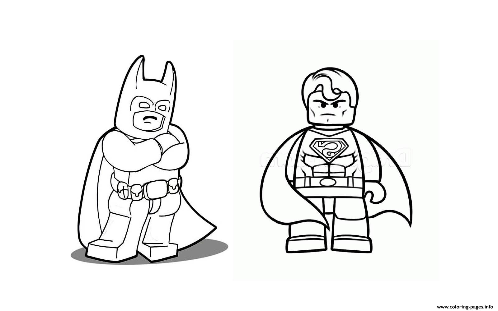 Superman coloring pages online - Print Batman With Superman Coloring Pages