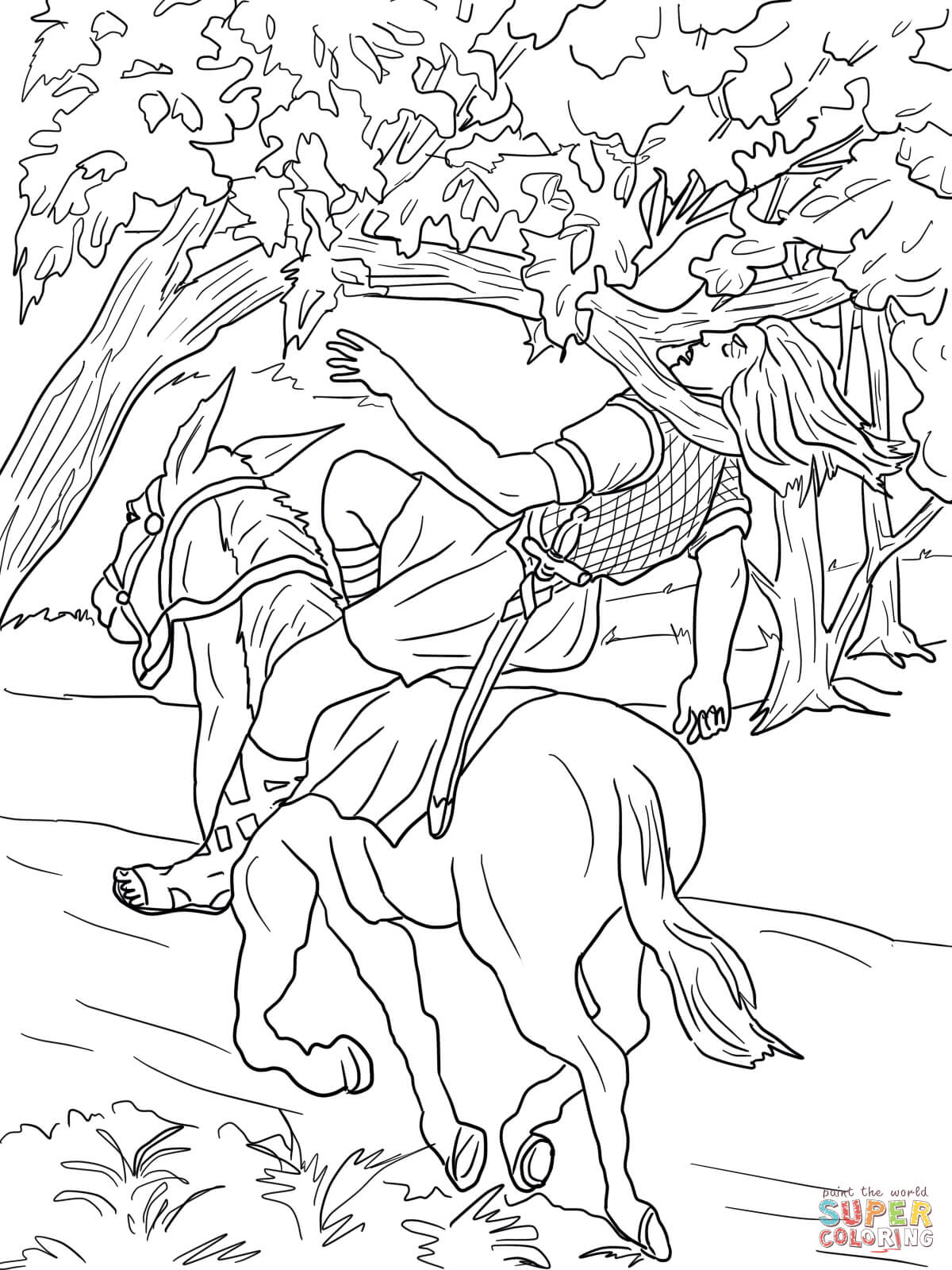absalom coloring pages coloring home