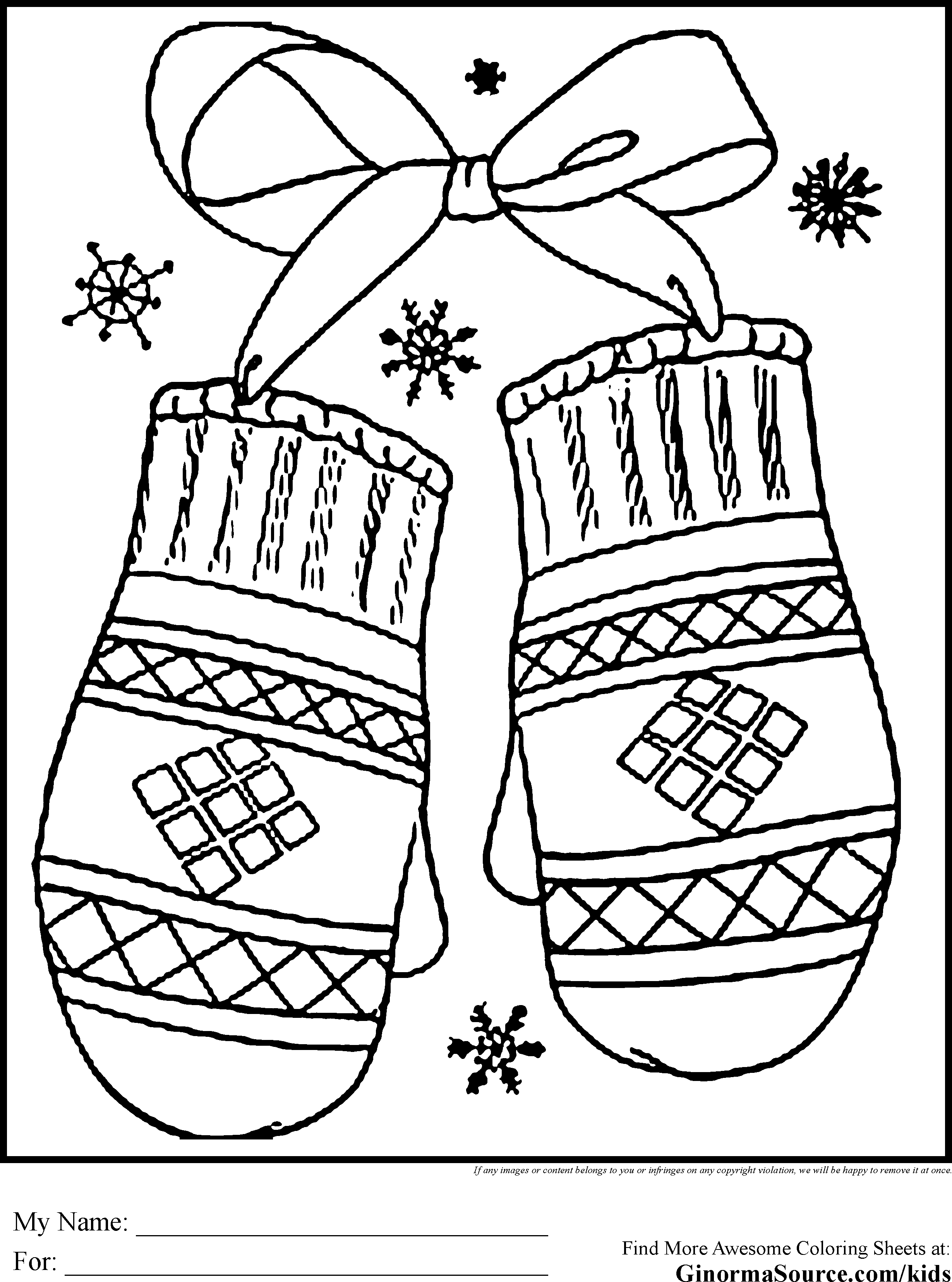 Free Coloring Pages For December