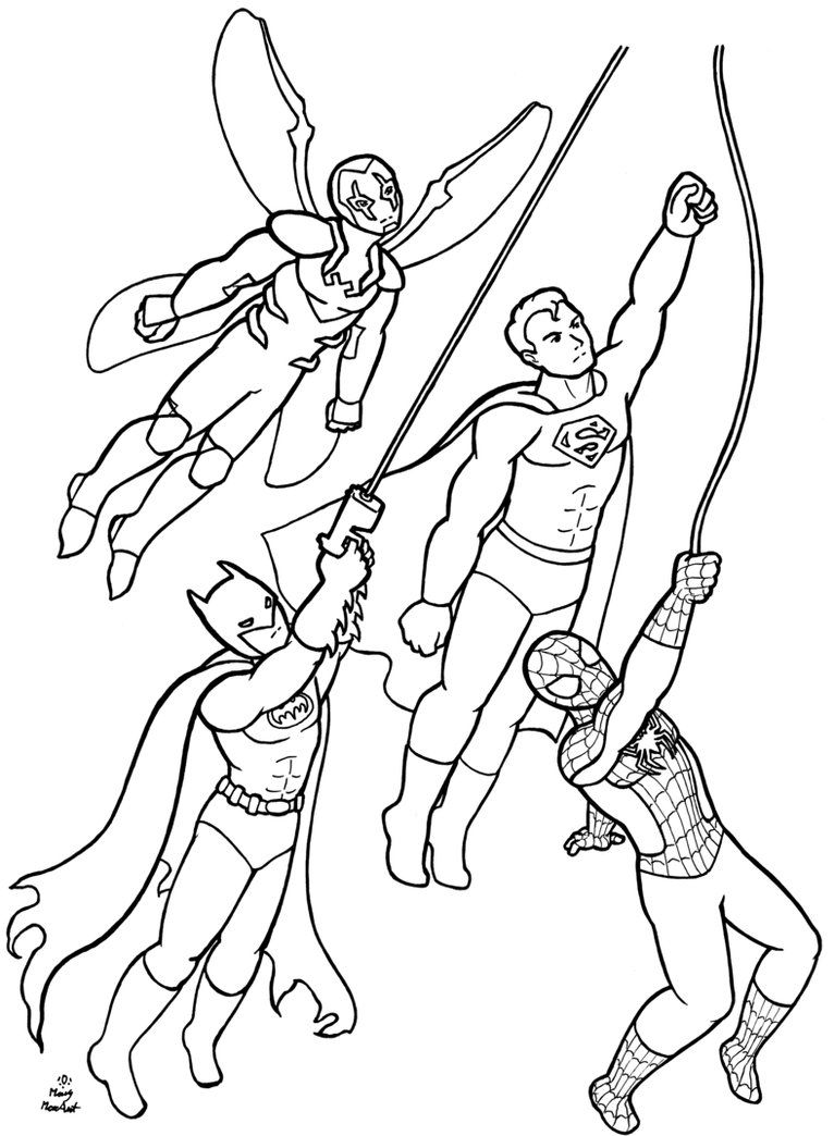 Coloring Pages For Adults Superheroes : Superheroes coloring pages free download home