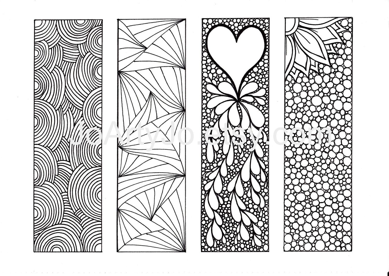 Bookmarks to color adults - 9 Best Images Of Adult Coloring Pages Free Printable Bookmarks