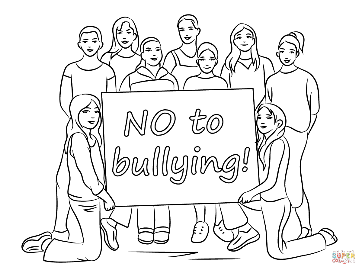 Bullying coloring page | Free Printable Coloring Pages
