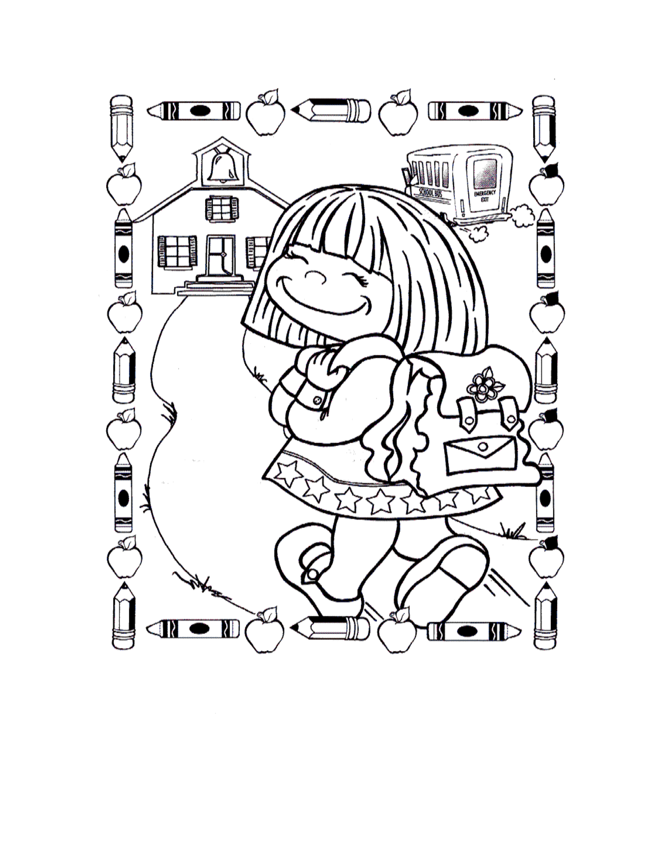 This is a graphic of Transformative back to school coloring pages for first grade