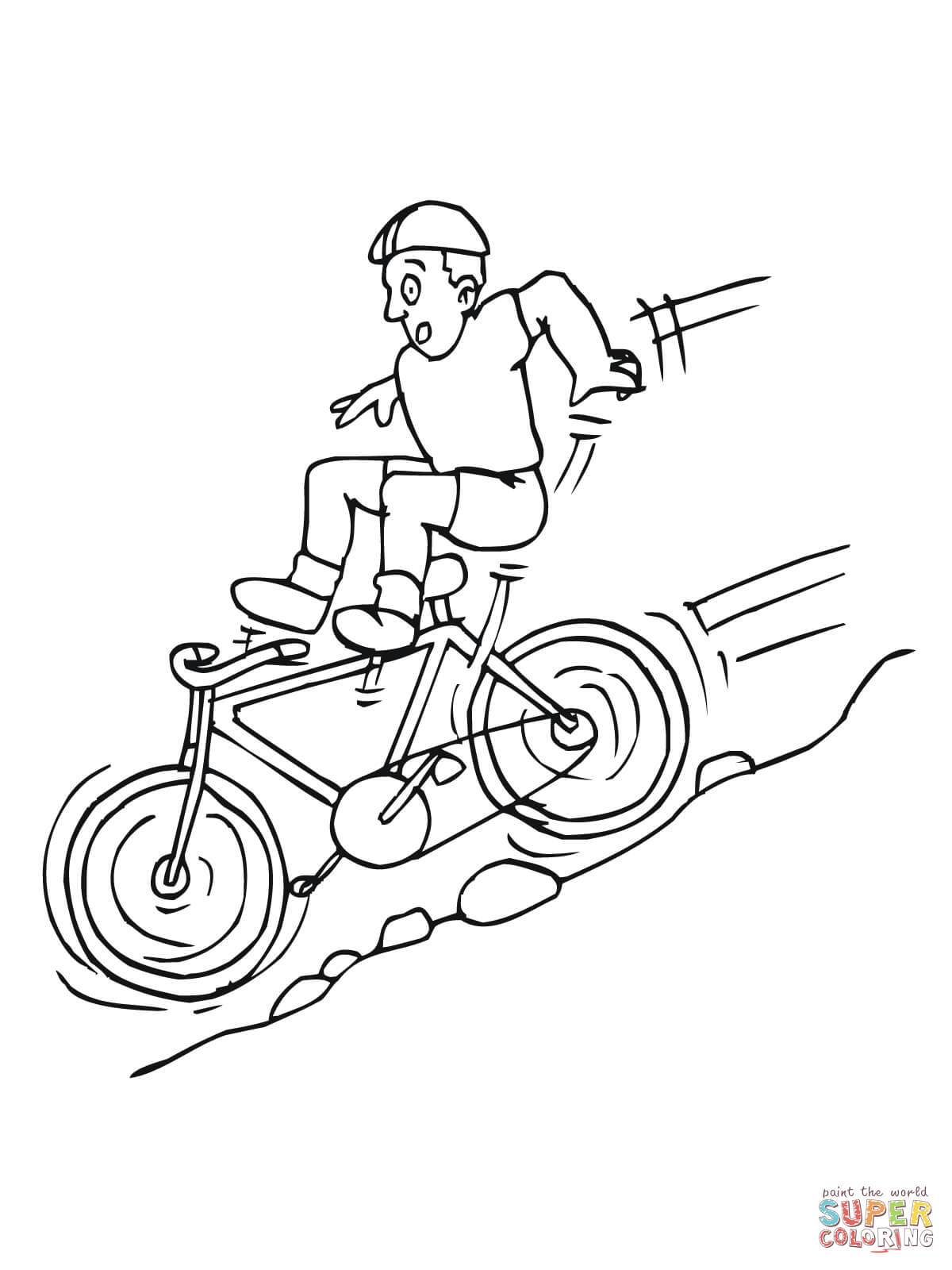 mountain bike coloring pages az coloring pages