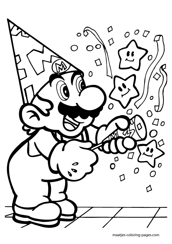 toad coloring pages from super mario
