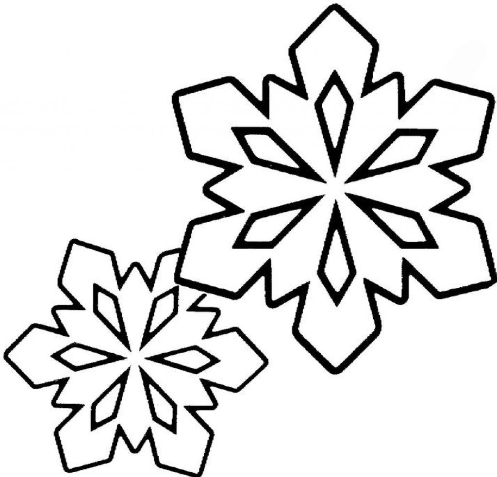 This is a picture of Simplicity Snowflake Coloring Pictures
