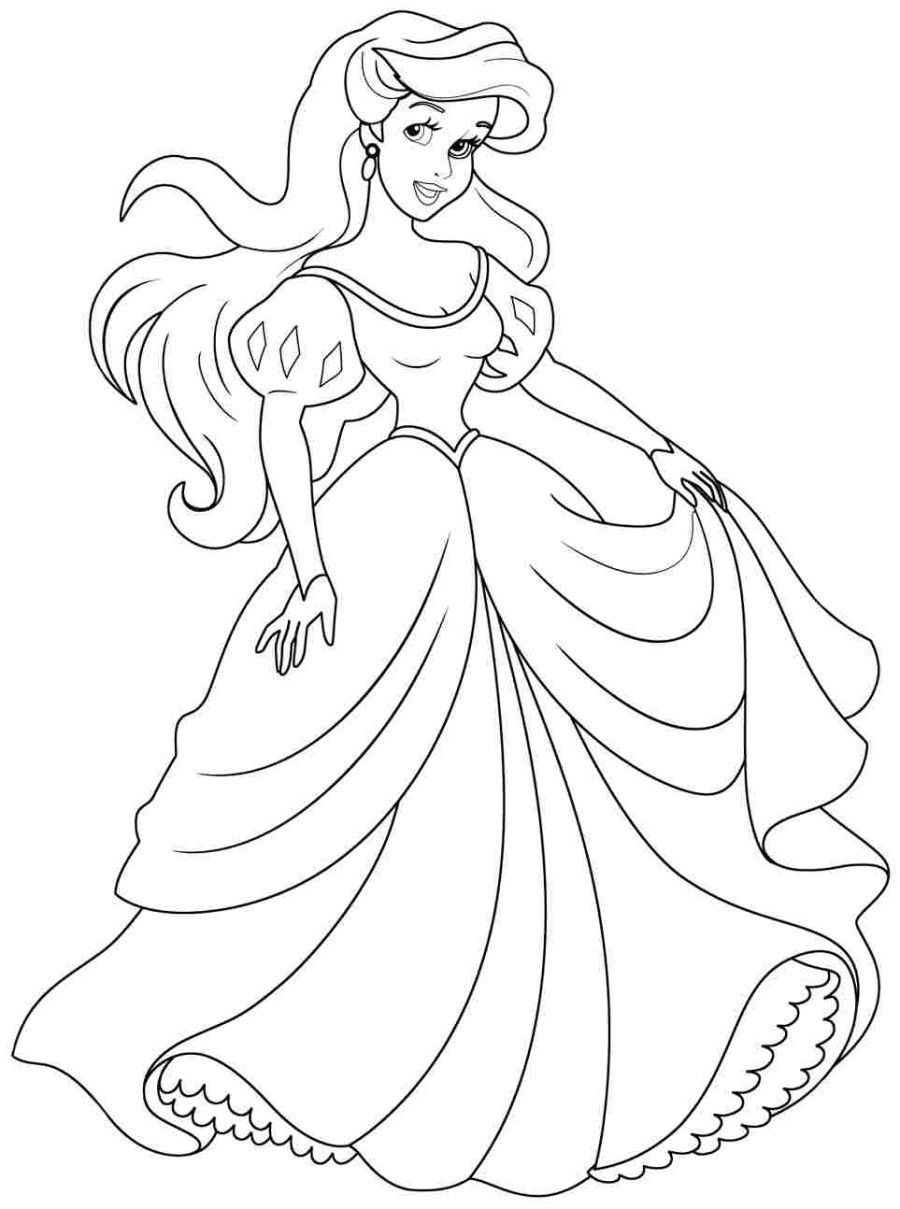 Free coloring disney princess pages - Free Printable Coloring Pages Of A Princess Princess Ariel Coloring Pages Forcoloringpages Com