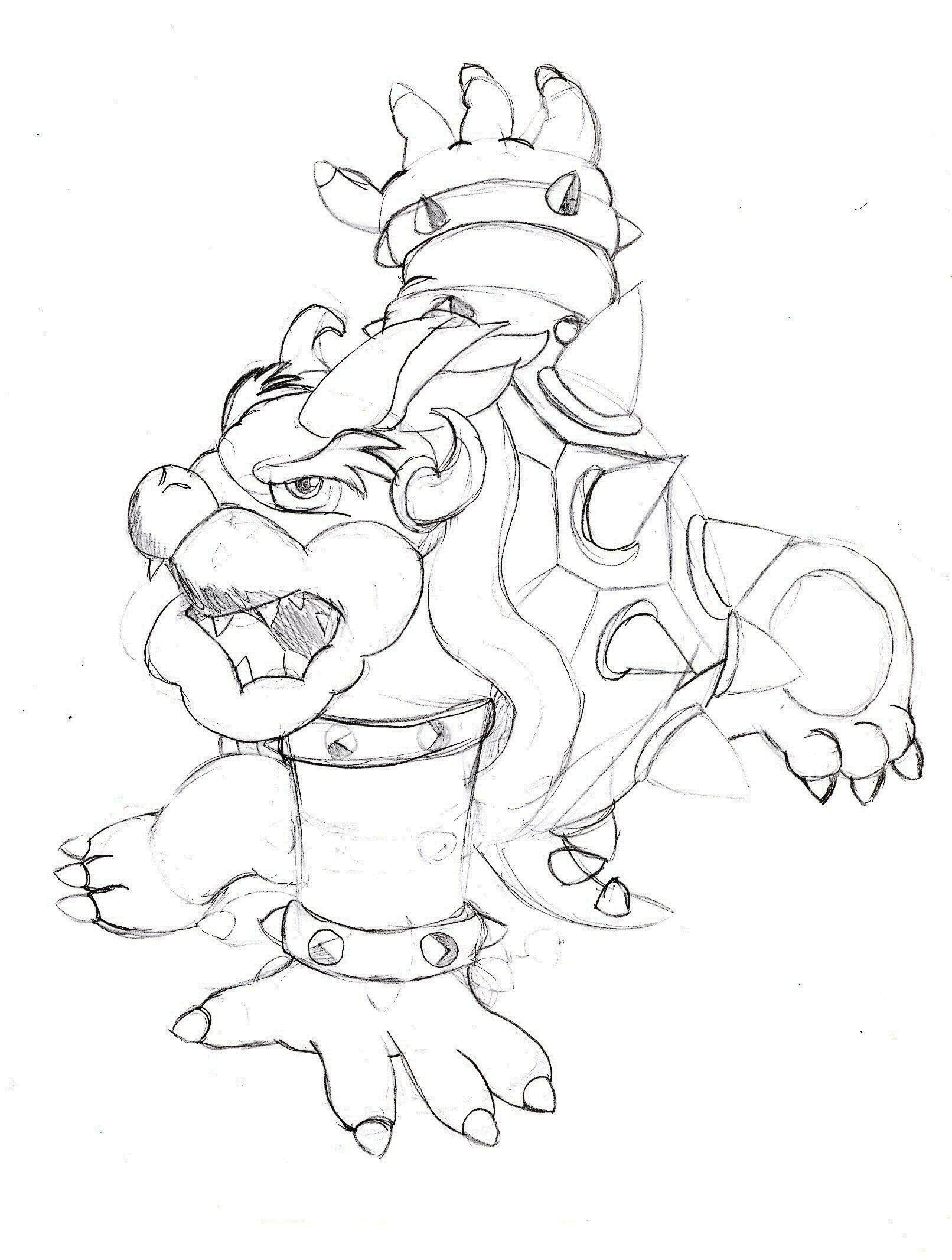 Bowser Jr Mask Coloring Page - Coloring Pages For All Ages