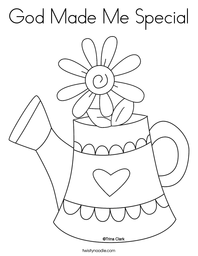 God Made Me Coloring Page - Coloring Home