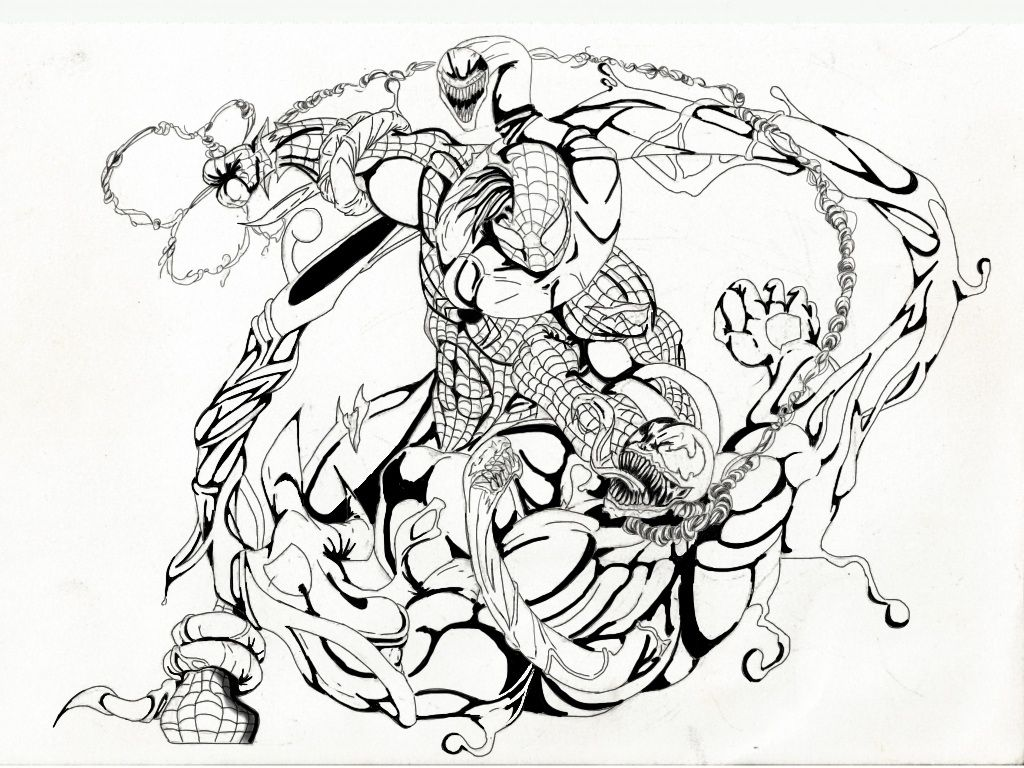 venom coloring pages spiderman - photo#21