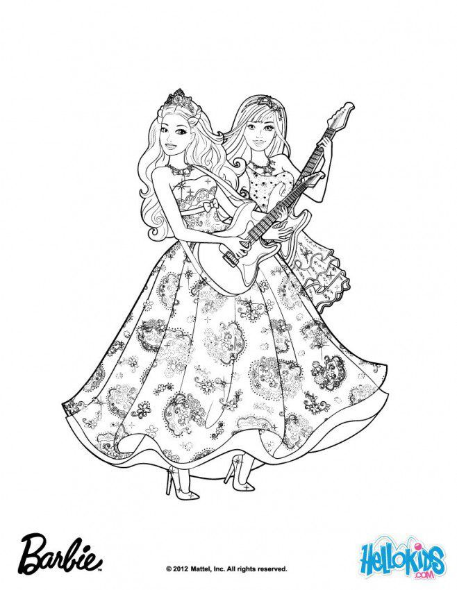 Barbie Popstar Coloring Pages : Barbie princess and the popstar coloring pages home